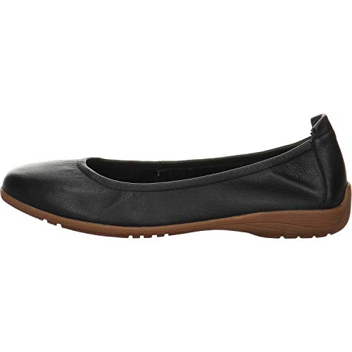 Josef Seibel Damen Ballerinas Fenja 01, Frauen Klassische Ballerinas, Women Woman Freizeit leger Flats sommerschuh Slip-on Lady,Schwarz,40 EU / 6 UK