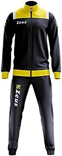 Zeus - Tuta da jogging da uomo, taglia grande, colore: blu navy, giallo e bianco