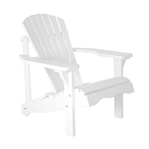 RABURG Gartensessel Hamburger Alsterstuhl Jumbo XL - hanseatischer Gartenstuhl im Adirondack-Chair Design aus imprägnierten Kieferholz in der Farbe Weiß