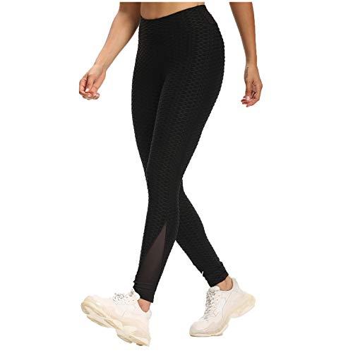 GPURE Mallas Pantalones Mujer Deportivos Leggings Push Up Yoga Tipo Pantalón de Alta Cintura Elásticos y Transpirables Llanura Costuras de Medias 5 Colores para Pilates, Gimnasio Running Fitness