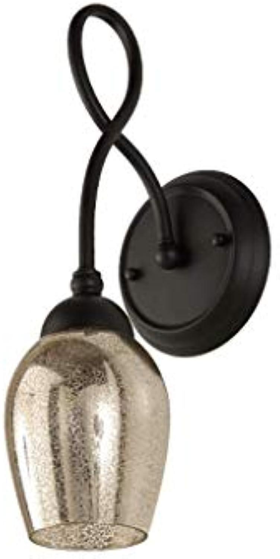 D G F Schmiedeeisen Wandleuchte Wohnzimmer TV Hintergrund Wand Doppelglas Schlafzimmer Nachttischlampe Treppe Gang Lampe Wandlampe (Gre Optional) (gre   Single Head)
