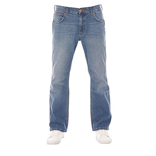 Wrangler Jacksville w30-w44 - Pantalones vaqueros para hombre, 100 % algodón, color negro y azul Vintage Worn (W15bkn95z) 34W x 32L