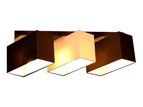 Plafoniera Milano B3D lampada a 3 luci diverse (marrone/crema/marrone)