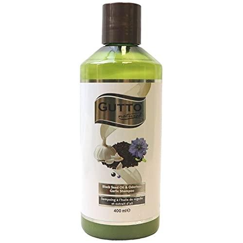 Gutto - Shampoing à l'huile d'Ail et de Nigelle - Inodore - Accélère la repousse et retarde la chute des cheveux