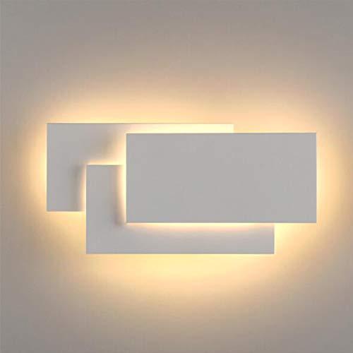 Applique da Parete Interno Moderno LED Lampada da Parete 12W Bianco caldo 3000k Lampada Muro Perfetto per Camera da Letto Soggiorno Corridoio Bagno Scale