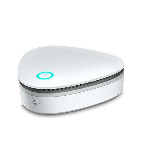 ABTSICA Ozon-Generator, Luftreiniger, tragbar, wiederaufladbar über USB, Desodorierung, Ionisator, Geruchsvernichter, Mini-Luftreiniger für Zuhause, Kühlschrank, Zimmer, Haustier, Toilette (weiß)