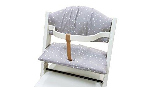 Treppy 1056 Kissen zum bequemen Sitzen, Cushion 2 Stars, grau
