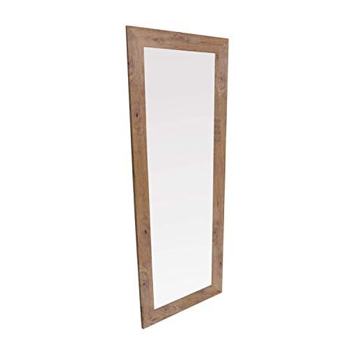 Adec - Natural, Espejo Rectangular, Espejo de Pared, Marco de Madera de Roble Boreal, Medidas: 160 cm (Alto) x 60 cm (Ancho) x 2 cm (Fondo)
