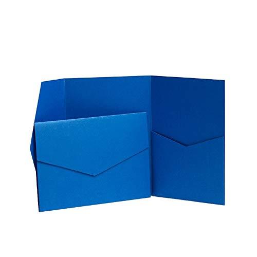 Saphir Blau mit Perlglanz jeweils 130 mm x 185 mm blau