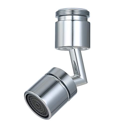 Grifo de Filtro de Salpicaduras Universal 720 Grados Aireador de de ángulo Grande Grifo de Cocina Boquilla de Ahorro de Agua Rociador Lavabo de baño Alargar Extensor