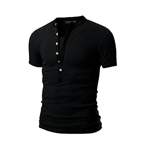 WYBD Nouveau Mode T Shirt Homme 2021, Chemises Manche Courte Slim Fit Casual Printemps Et été Homme Tendance Tee Shirt Homme Marque Pas Cher Grande Taille T Shirt Sport Couleur Unie Tops Blouse Haut