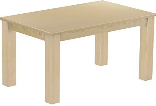 Brasilmöbel Esstisch Rio Classico 150x90 cm Birke Massivholz Pinie Holz Esszimmertisch Echtholz Größe und Farbe wählbar ausziehbar vorgerichtet für Ansteckplatten