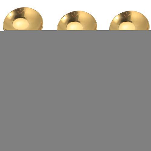 【𝐎𝐬𝐭𝐞𝐫𝐟ö𝐫𝐝𝐞𝐫𝐮𝐧𝐠𝐬𝐦𝐨𝐧𝐚𝐭】 Glatte Spülmaschine Safe Lebensmittelqualit t Kurzl ffel, 5 Stück Dessertschaufel, für Dessert Shop 9 x 4,5 cm Küchenutensilien nach Hause(Golden)