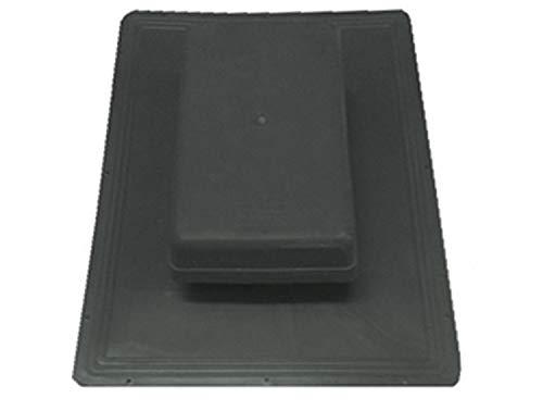 Uzman-Versand dakventilator, zwart dakventilatie, ontluchting, dak, vlakke dakventilator, dakkap, dakdoorvoer, rookafvoer, ontluchtingssteen, dakventilator, dakpannen, ventilator, vlakdakventilator