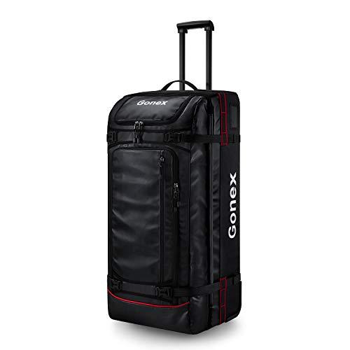 Gonex reistas met wieltjes, 100 liter, rolkoffer, reiskoffer, grote koffer, trolley, handbagage, maat XL
