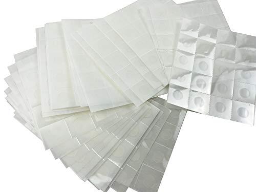 Masilla adhesiva transparente extraíble 600 unidades, 1,2 cm, doble cara, nano gel,...