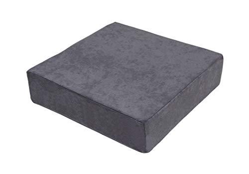 Stuhlerhöhung orthopädische Sitzerhöhung Sitzkissen Bodenkissen 40 x 40 x 10cm - grau -