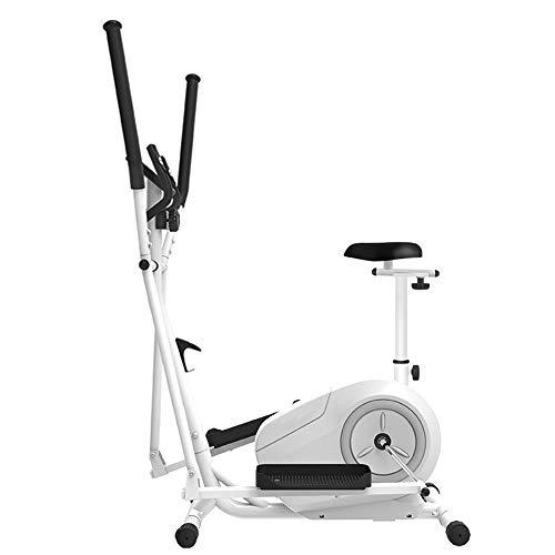 Ouumeis 3 in 1 Magnetic Control Crosstrainer Gym Haushalt Tragbare Kleine Ultra Leise Fitnessgeräte Space Walker Maschine Ellipsentrainer Laufbänder Heimtrainer,with seat