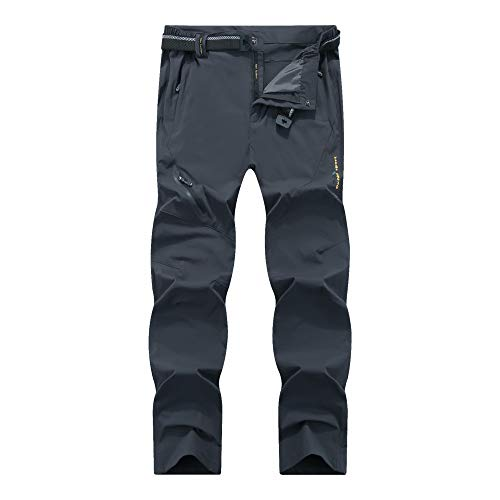 LY4U Men's Outdoor Quick Dry Hiking Trousers Lightweight Breathable Camping Trekking Mountain Running Cycling Hunting Stretch Pants