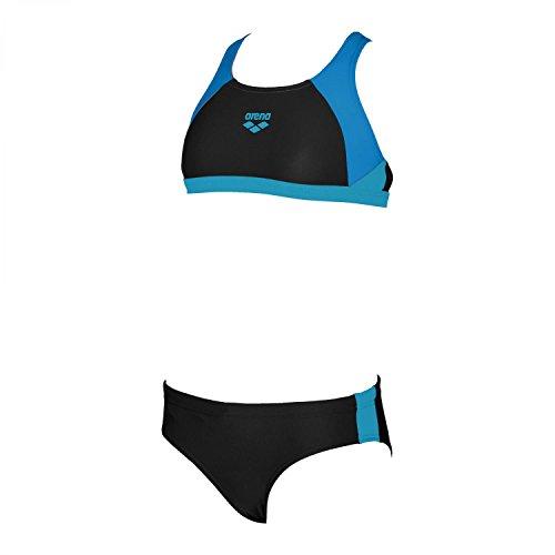 ARENA Mädchen Bikini Ren Two Pieces 000994 Black-PIX Blue-Turquoise 116