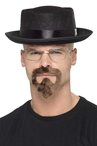 cappello heisenberg SMIFFYS Smiffy's 20499 - Heisenberg Kit Nero con Il Cappello Occhiali & Pizzetto