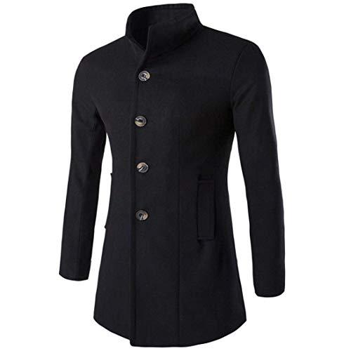 Adelina mode goed uitziend mode en warm jongens lange mouwen houden mode revers lange mantel heren wollen mantel effen casual jassen outdoorwear