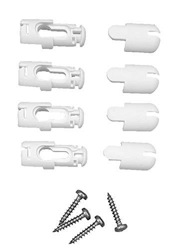 COSIFLOR Plissee Spannschuhe System 2006 (4 Stück, weiß)