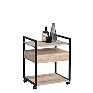 HomeTrends4You Dallas 1 Carrito Auxiliar/Bebidas, MDM, B/H/T= 48×60,5×38