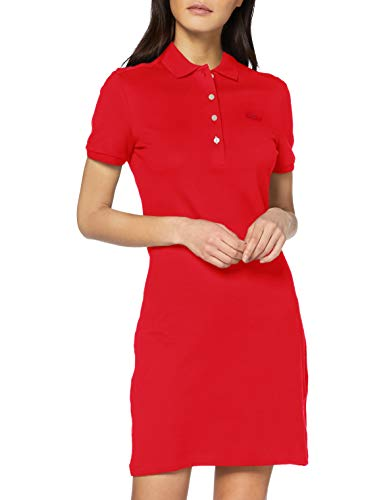 Lacoste Damen Ef5473 Robe, Rot, 38