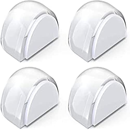 4 piezas puerta tapón transparente autoadhesivo puerta tope de piso de piso tampón protector puerta tapón sin perforación para la oficina en el hogar protege las paredes y los muebles, claro