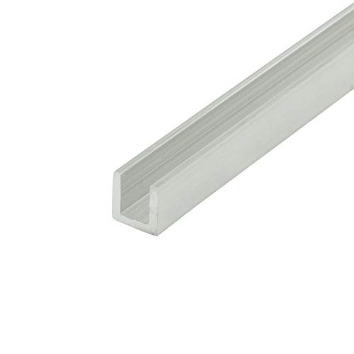 """Outwater Alu257-M Mill Finish 1/4"""" Inside Dimension Aluminum U-Channel/C-Channel 36 Inch Lengths (Pack of 4)"""