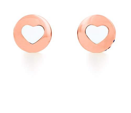 Tommy Hilfiger Jewelry Mujer acero inoxidable Pendientes de botón 2701083