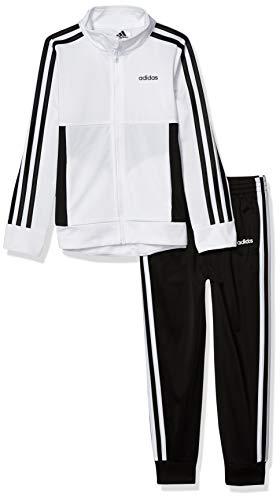 adidas Girls' Toddler Tricot Jacket & Jogger Active Clothing Set, White, 3T