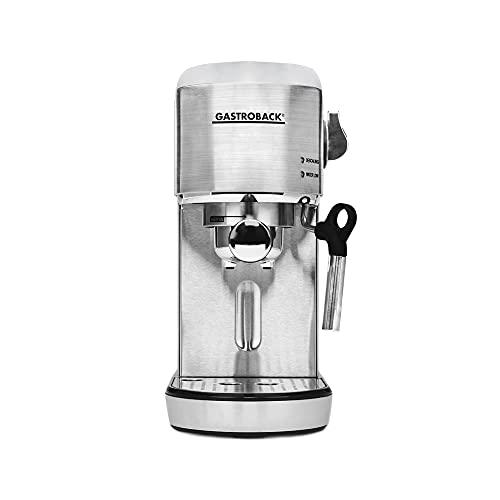 Gastroback 42716 Design Espresso Piccolo - Cafetera de espresso con boquilla para espumador de leche, 19 bares, calentamiento...