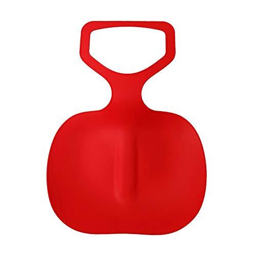 Trineo de plástico, 49 cm, tabla de nieve para exteriores, invierno, para niños y adultos, rojo