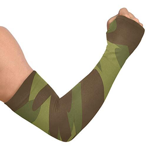 Fodere per braccio da uomo Fanculo militare Trama mimetica militare Fodere per braccio da donna Manica Sole Ghiaccio Seta Copertura del braccio unisex Per Correre Ciclismo Guida Sport all'aperto