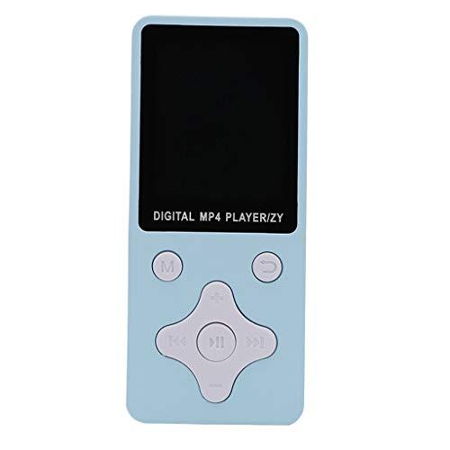 B Blesiya 1.8'Pantalla LCD Soporte 32GB Memoria TF Tarjeta FM Radio Video - Azul