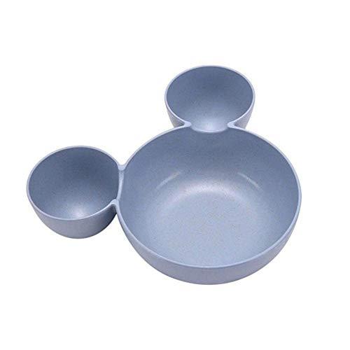SX1560 Zerbrechliches beständiges kampierendes Geschirr der niedlichen Schüsselküchenbestecknahrungsmittelvorratsbehälter-Mittagessensschüssel (Farbe : Blau)