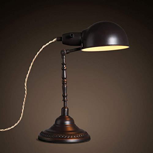 Chenbz La lectura de la lámpara de escritorio, formado de edad, estudiante dormitorio lámpara de mesa-Loft creativo retro de la tabla Pantallas de iluminación de la lámpara puede girar arte del hierro