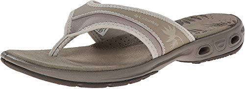 Columbia Damen Kambi Vent T-Spangen Sandalen mit Keilabsatz, Weiß (Silver Sage, Stone 103), 43 EU