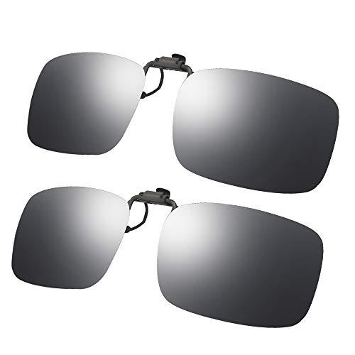 LR Unisex gepolariseerde Clip-on Flip up Lens voor voorgeschreven zonnebril UV bescherming zonnebril over RX brillen (2-delig, 3-delig)