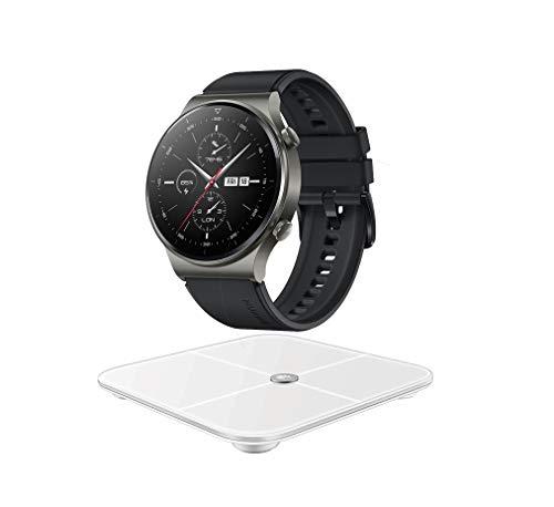 "HUAWEI WATCH GT 2 Pro Smartwatch,1.39"" AMOLED HD-Touchscreen,2 Wochen Akkulaufzeit,GPS,SpO2, 100+Trainingsmodi,Bluetooth-Anrufe,Herzfrequenzmessung,Night Black-Exklusives Bundle mit HUAWEI Körperwaage"