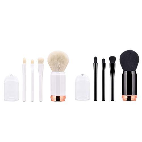 dailymall 2x Maquillage De Beauté Portable Blush Poudre Libre Poudre Pour Les Yeux Shader Cosmetic Brush