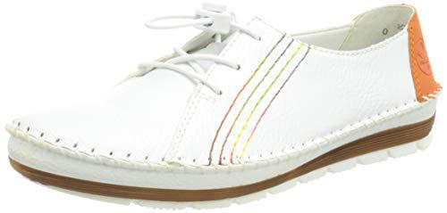 Rieker Damen 49604 Slipper, Weiß 39 EU