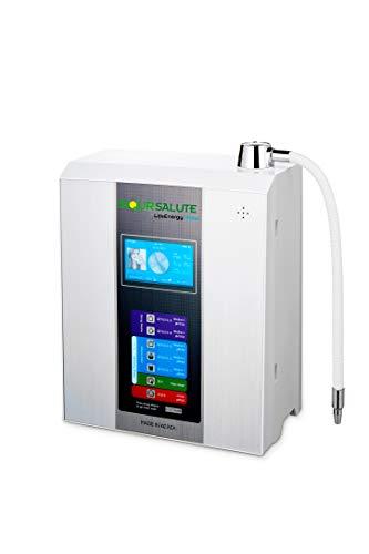 Ionizador de agua LifeEnergy Water, con filtros tecnológicos de 10 pasos: 5 alcalinas y 5 ácidos, alimentación eléctrica CC, pantalla táctil a color