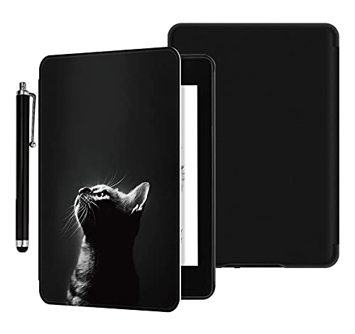 YYS Case with Hand Strap and Touchscreen Pen for Kindle Paperwhite Prior to 2018 E-Reader - Durable Leather Cover with Auto Wake/Sleep, Only Suitable for Model DP75SDI or EY21