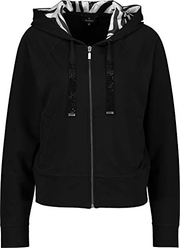 Monari Damen Jersey-Jacke mit Kapuze schwarz - 44