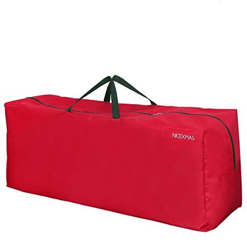 NICEXMAS Borsa per l'albero di Natale con decorazioni Borsa con cerniere per le vacanze (Rosso)