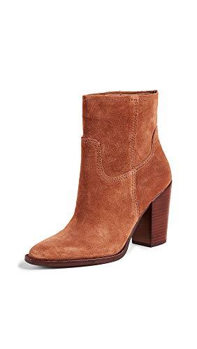 Dolce Vita Women's Kelani Western Booties, Brown, 8.5 Medium US