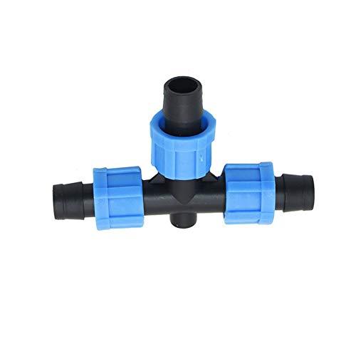 """MINGMIN-DZ Dauerhaft Tropfbewässerung 16mm Drip-Band-T-Stück Verbindungsstück-Schraube 5/8\"""" 3-Wege-Gartenschlauch Wasser Splitter 20pcs"""